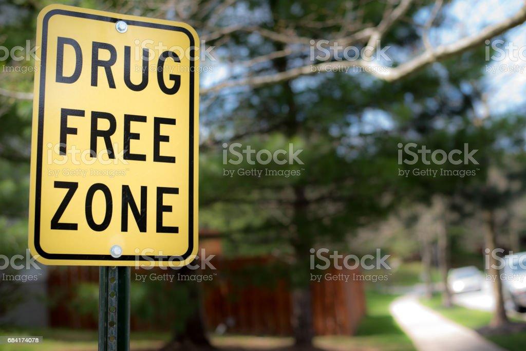 drug free zone sign stock photo