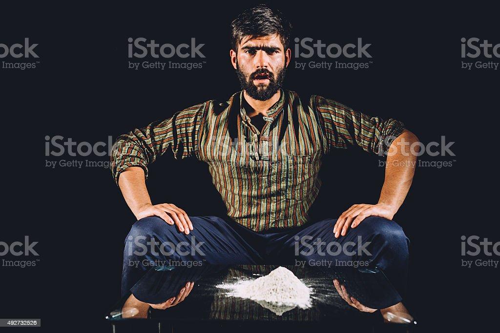 Drug lord stock photo