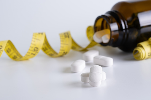 Drug Lose Weight Concept Diet Slim Eat Pills Healthcare And Medical