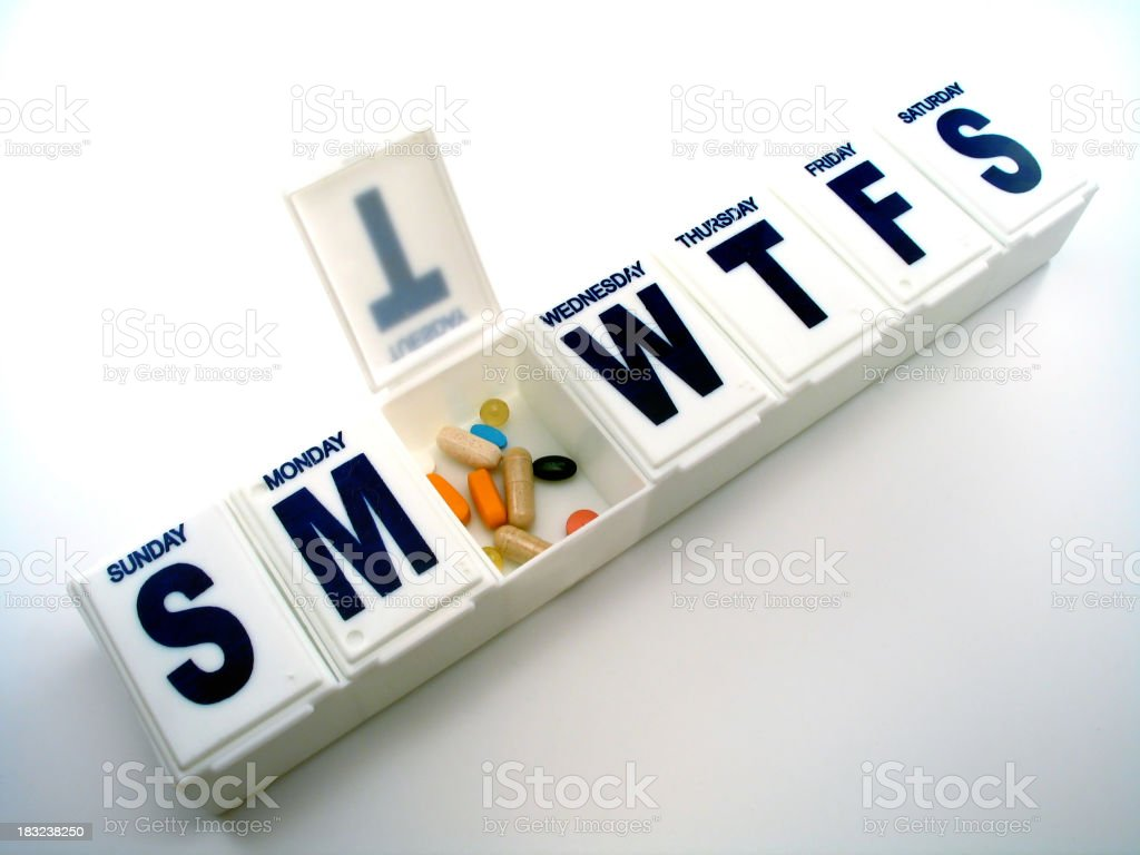 Drug Organizer #2 stock photo
