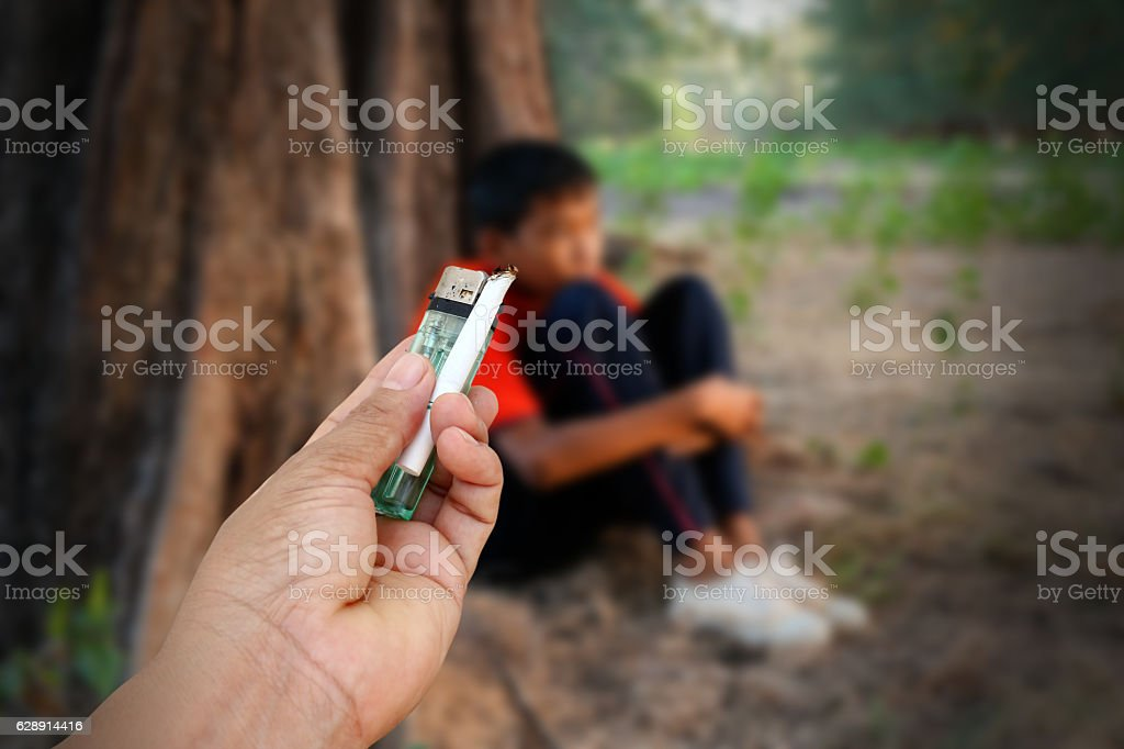 drug problems in youth. stock photo