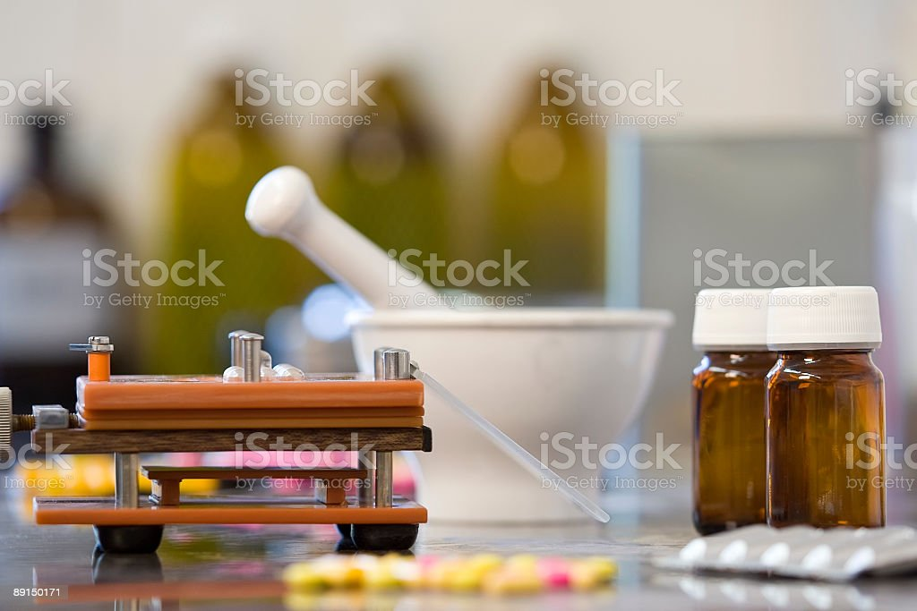 Drug Production royalty-free stock photo
