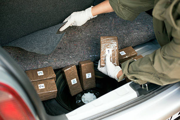 Drug smuggling Illegal drug trade. smuggling stock pictures, royalty-free photos & images