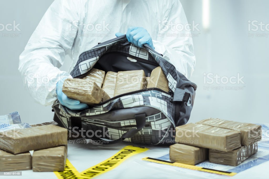 Drug smuggling stock photo