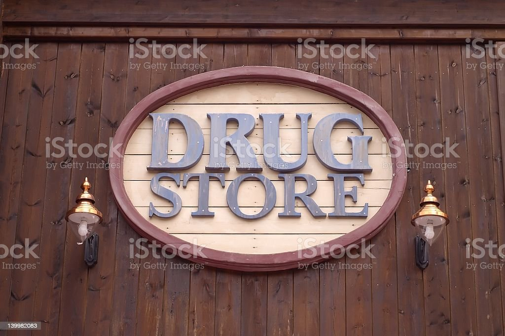 Drug store royalty-free stock photo