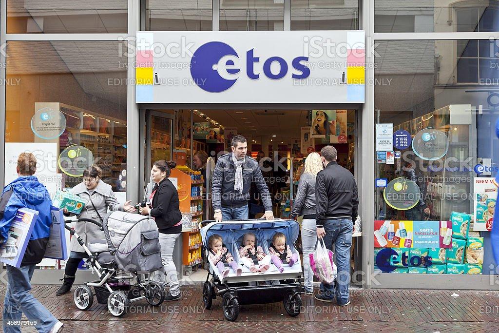 ETOS drug store stock photo