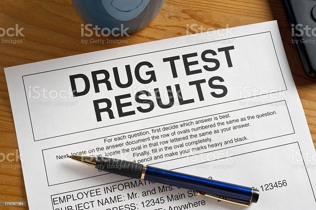 Drug Test stock photo