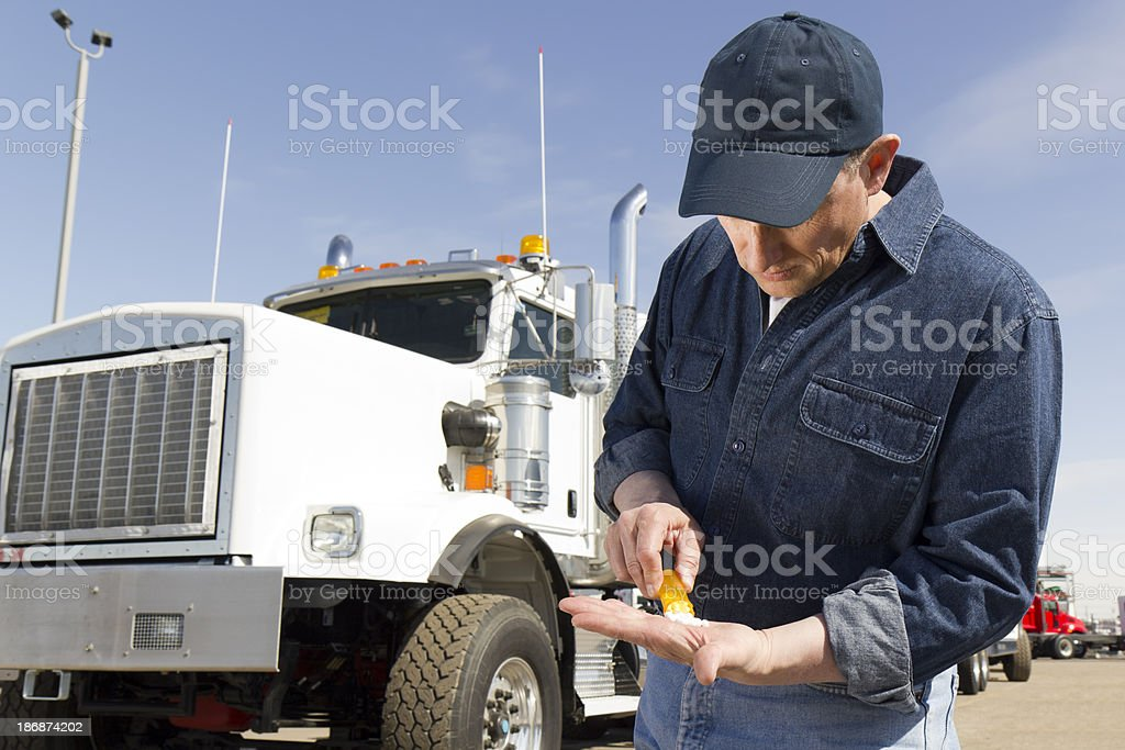 Drug Use in Trucking royalty-free stock photo