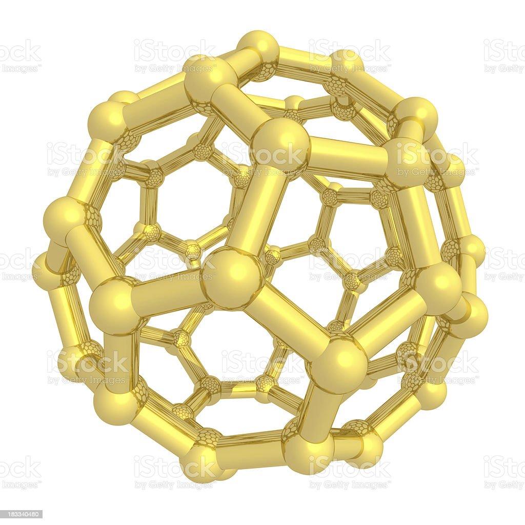 DrugModel: Buckyball - Fullerene stock photo