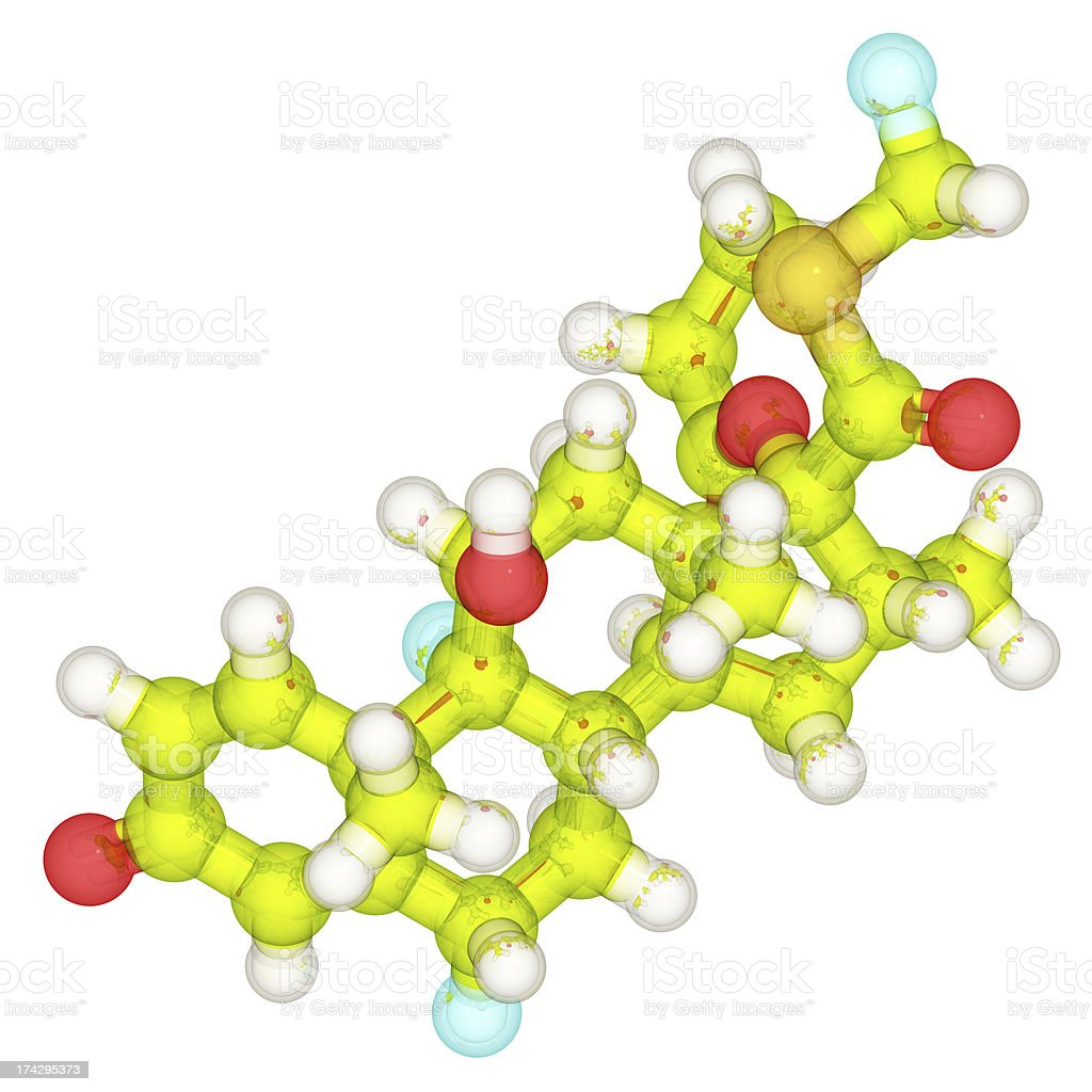 DrugModel: Fluticasone royalty-free stock photo