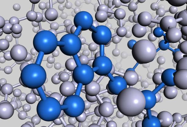 drugmodel: proteina molecola interno - febbre russa foto e immagini stock