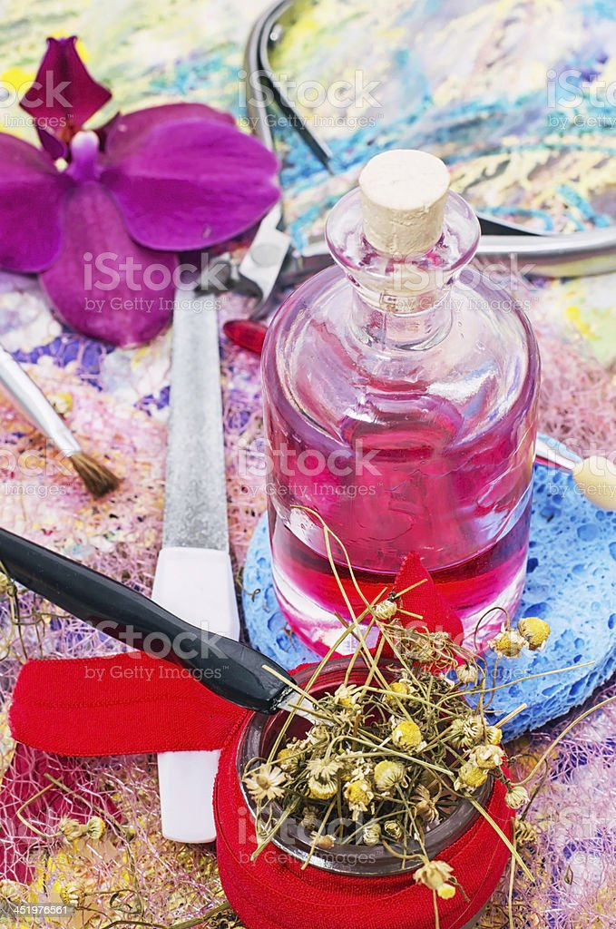 drug,natural Spa cosmetics royalty-free stock photo