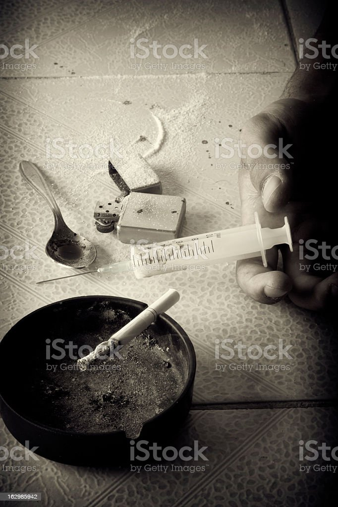 Drugs abuse royalty-free stock photo