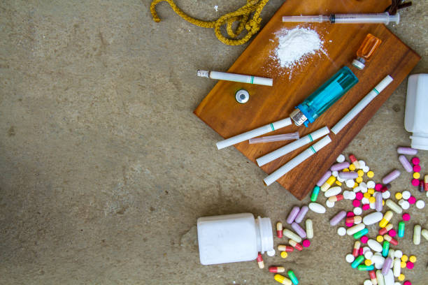 drugs and addictions - narcotic stock pictures, royalty-free photos & images
