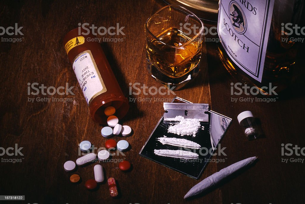 Drugs and Alcohol Addiction royalty-free stock photo