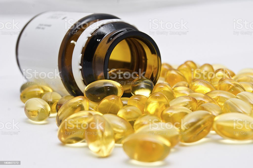 Drugs and bottle royalty-free stock photo