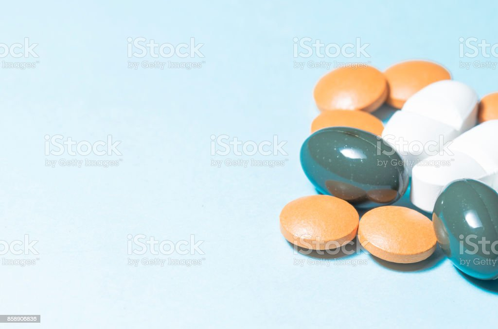drugs and pills stock photo