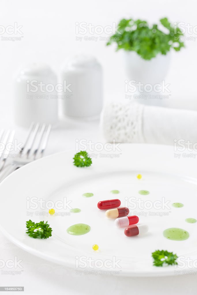 Drugs as food royalty-free stock photo