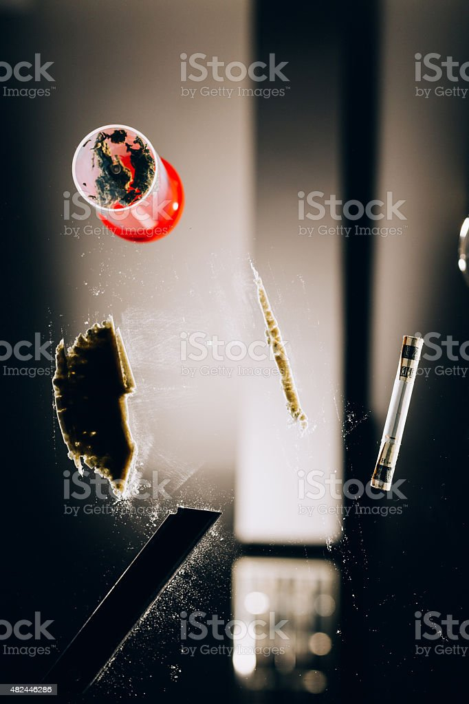 Drugs dependence topic stock photo