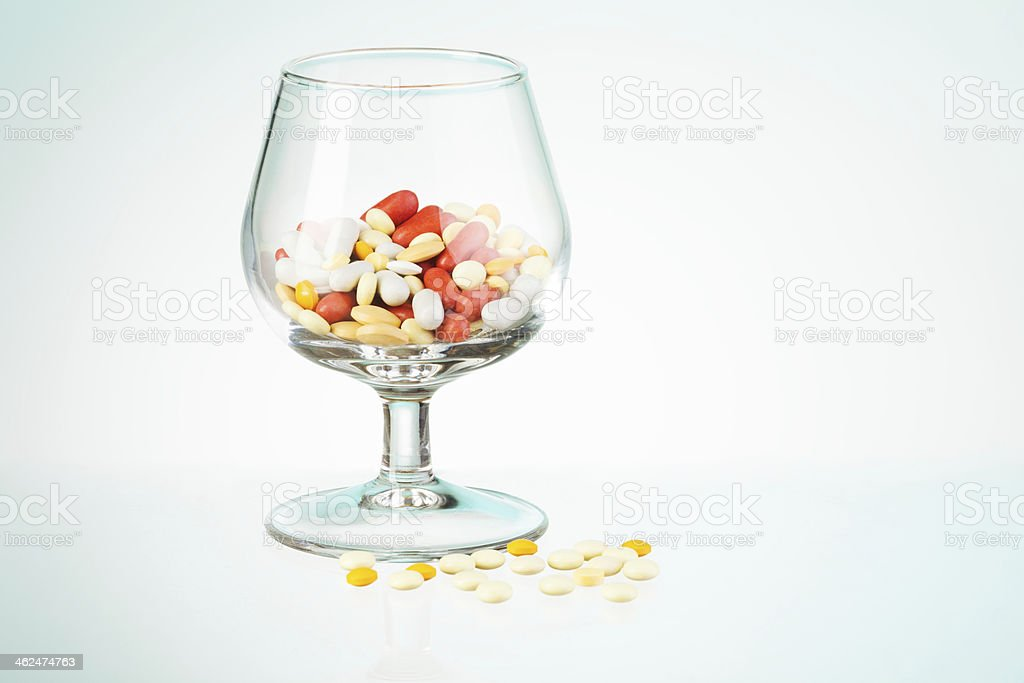 Drugs from hangover royalty-free stock photo