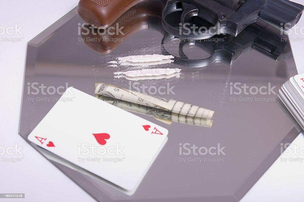 Drugs Games Gun stock photo