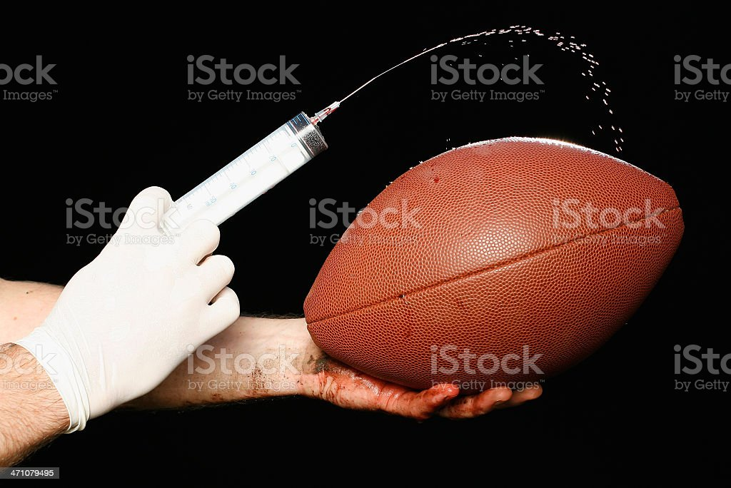 Drugs in Sport - American Football royalty-free stock photo