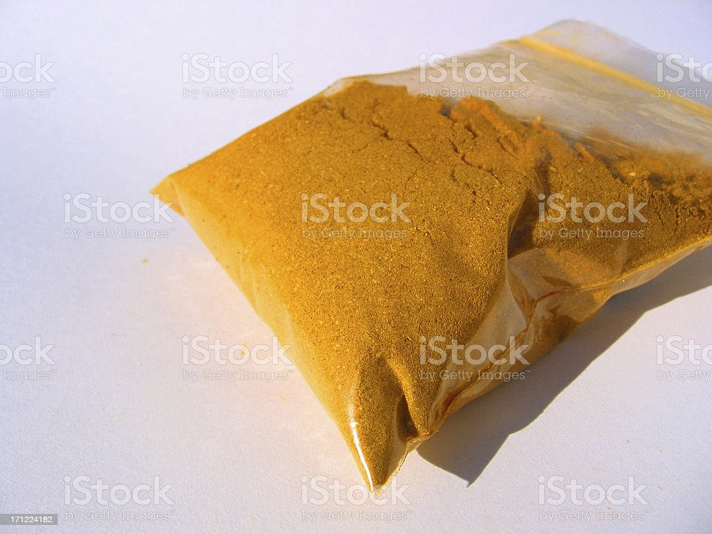 Drugs or Spices in a bag royalty-free stock photo