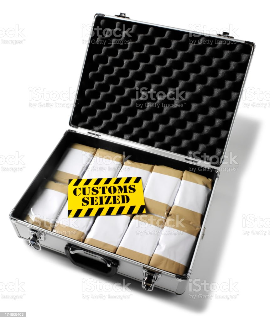 Drugs Seized by Customs royalty-free stock photo