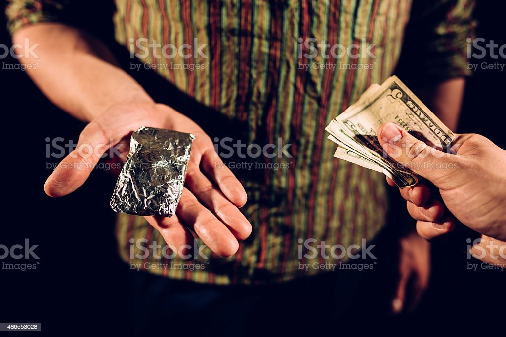 Drugs transfer stock photo