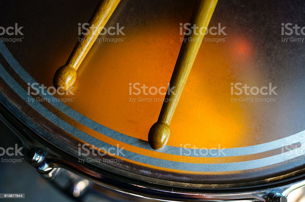 Drum and Drum Sticks stock photo