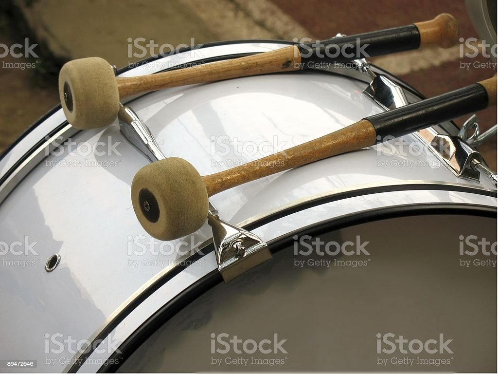 Drum and Mallets stock photo