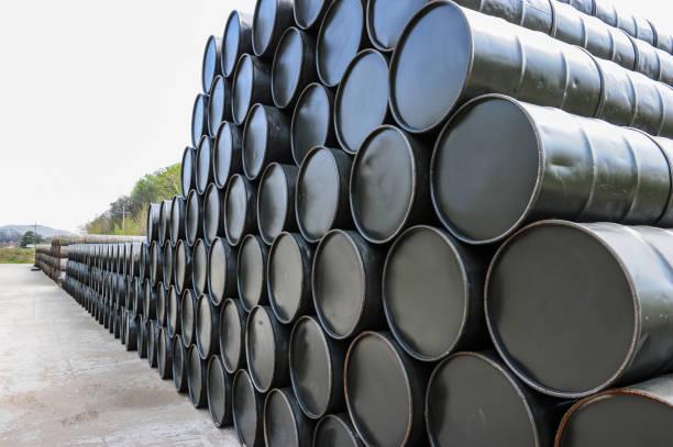 Drum barrel stock photo