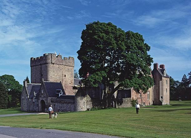 Drum Castle, Near Peterculter, Aberdeenshire, Scotland. stock photo