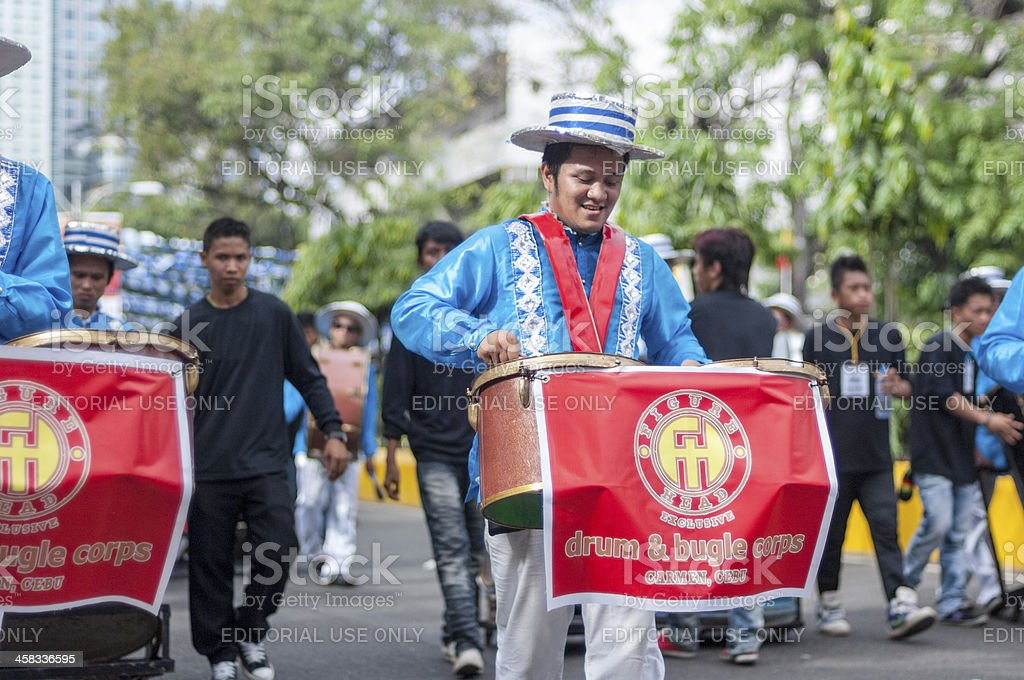 Drum Corps at Sinulog Festival stock photo