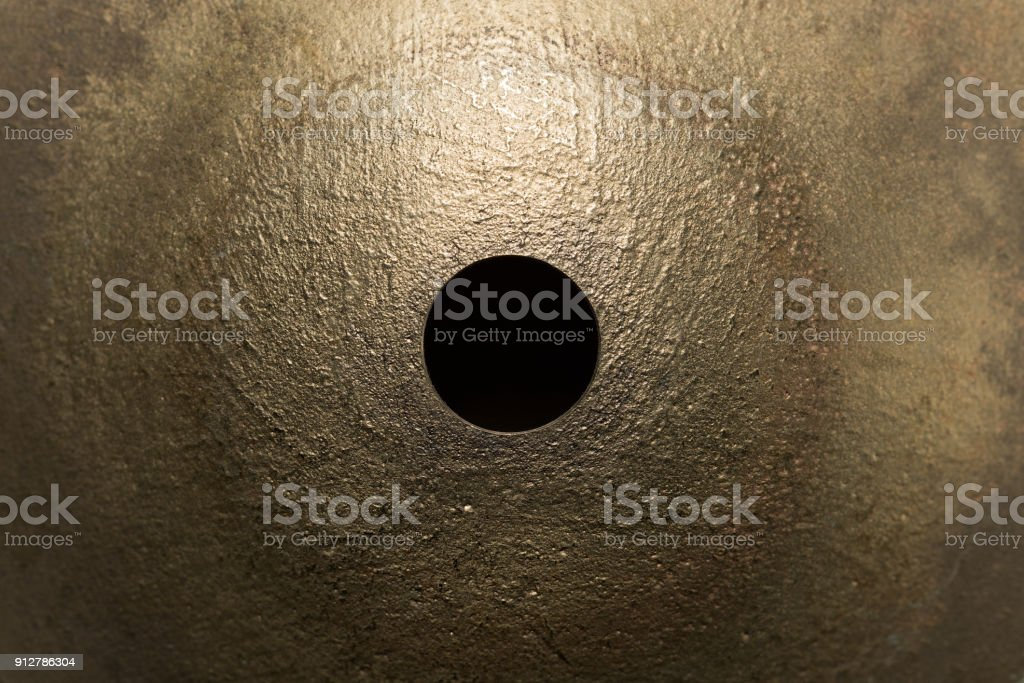 drum cymbal macro closeup stock photo