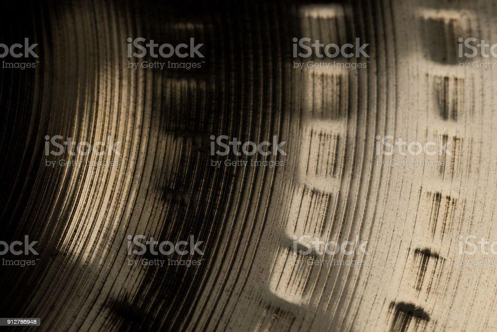 drum cymbal macro closeup stock photo