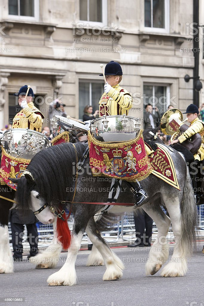 Drum horse for the Queen's Diamond Jubilee state procession royalty-free stock photo