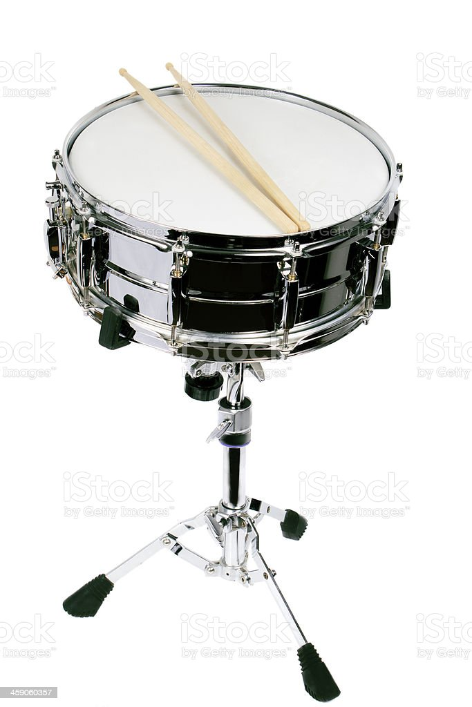 Drum isolated on a white background stock photo