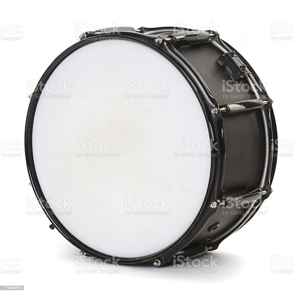 drum isolated on white background stock photo