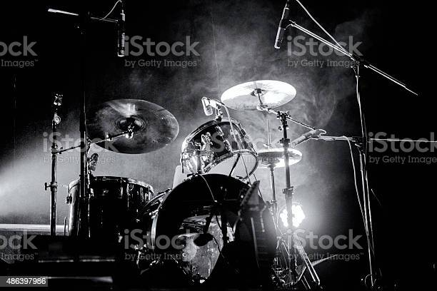 Drum кit on the stage.