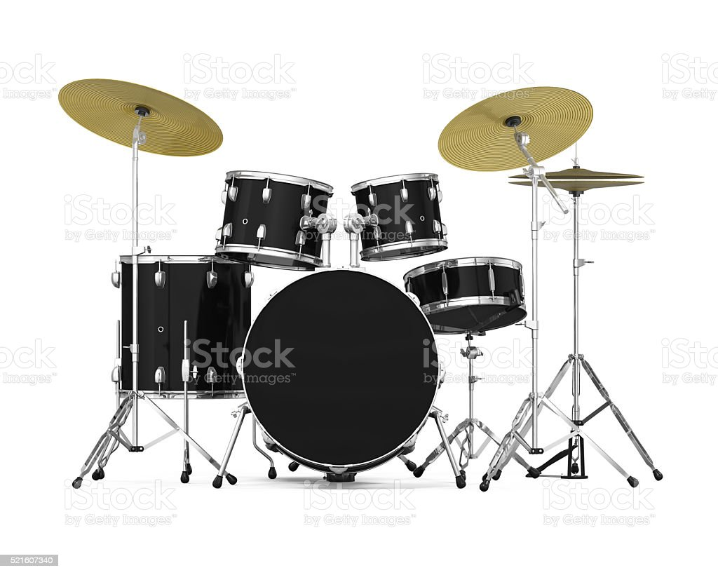 Drum Kit Isolated stock photo