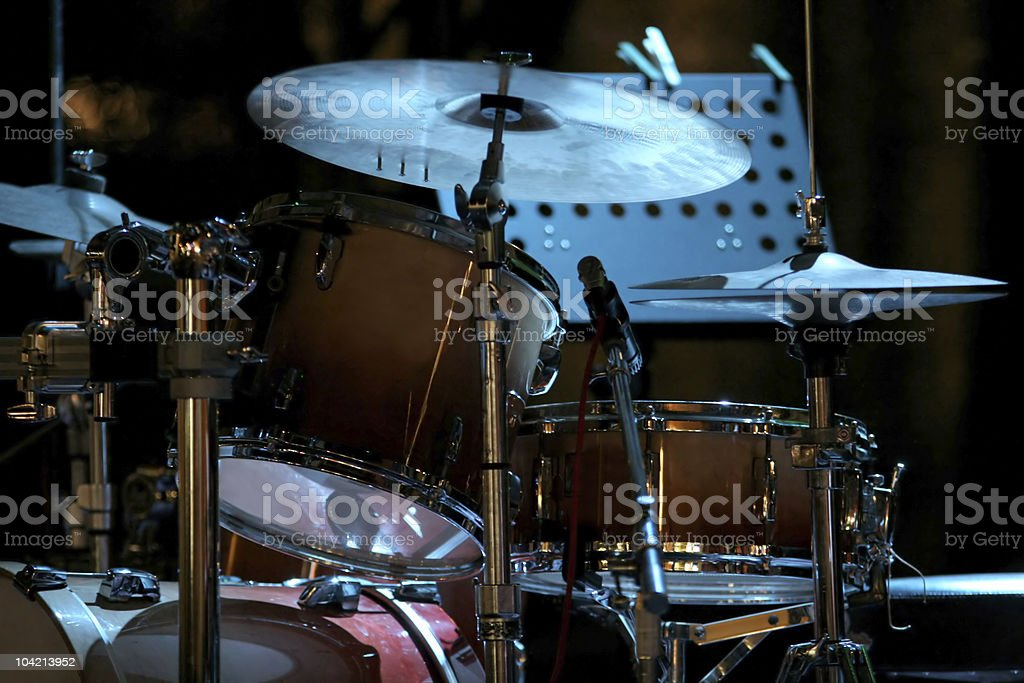 drum kit on the stage royalty-free stock photo