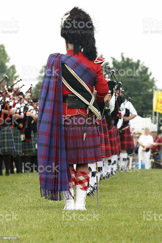Drum Major in Scottish Kilt stock photo