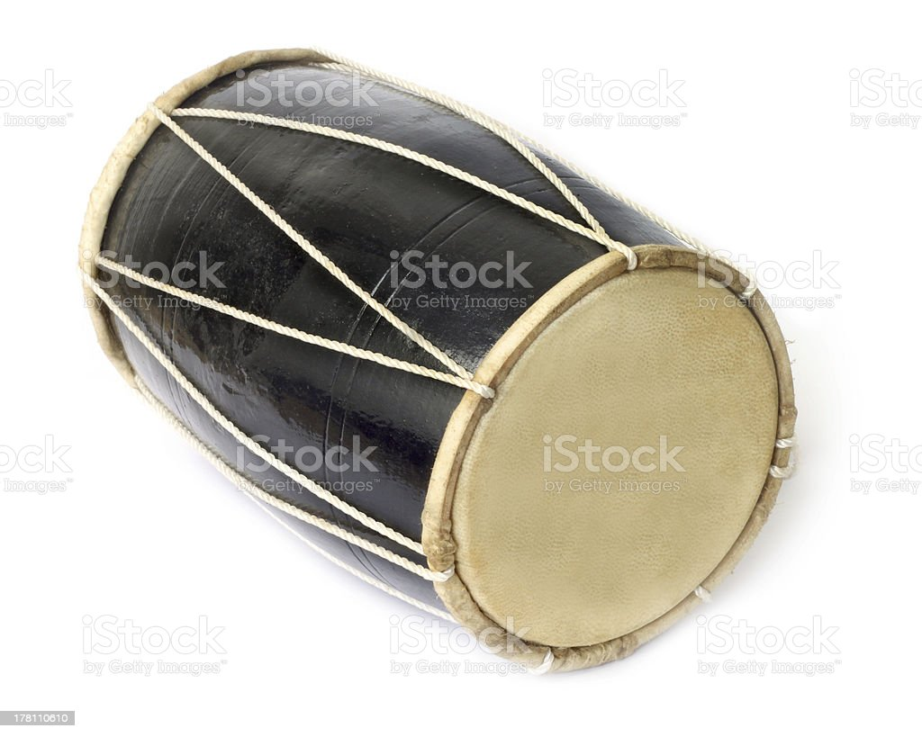 Drum of native Indian music stock photo
