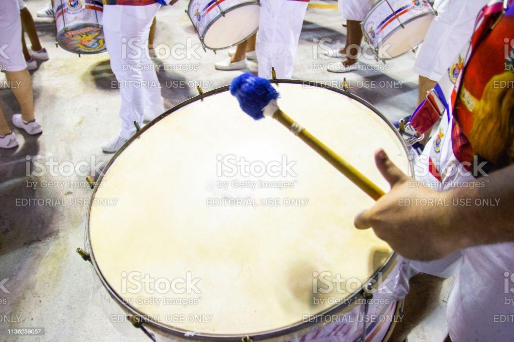 Drum Of The Samba School Union Of The Island Marques De
