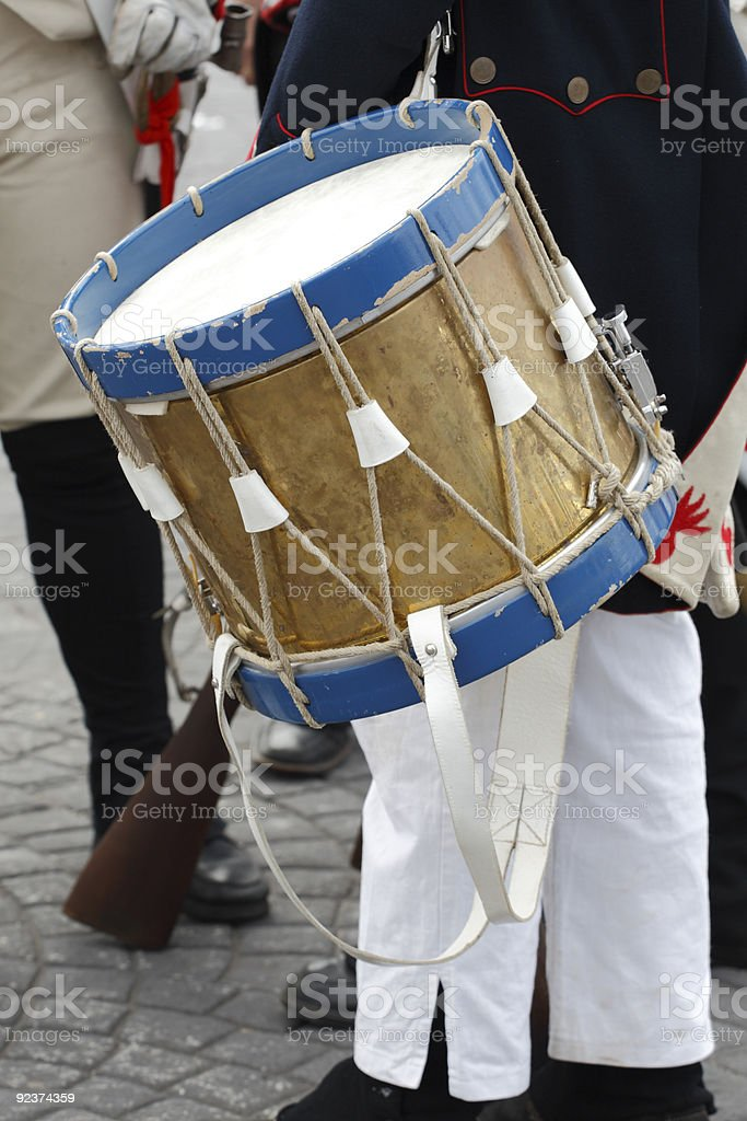 Drum on parade royalty-free stock photo