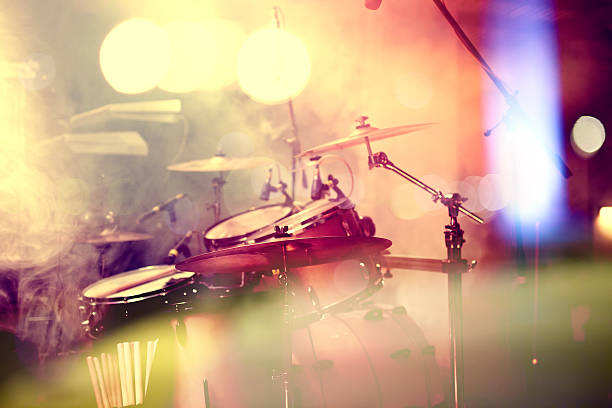 drum on stage - music style stock pictures, royalty-free photos & images