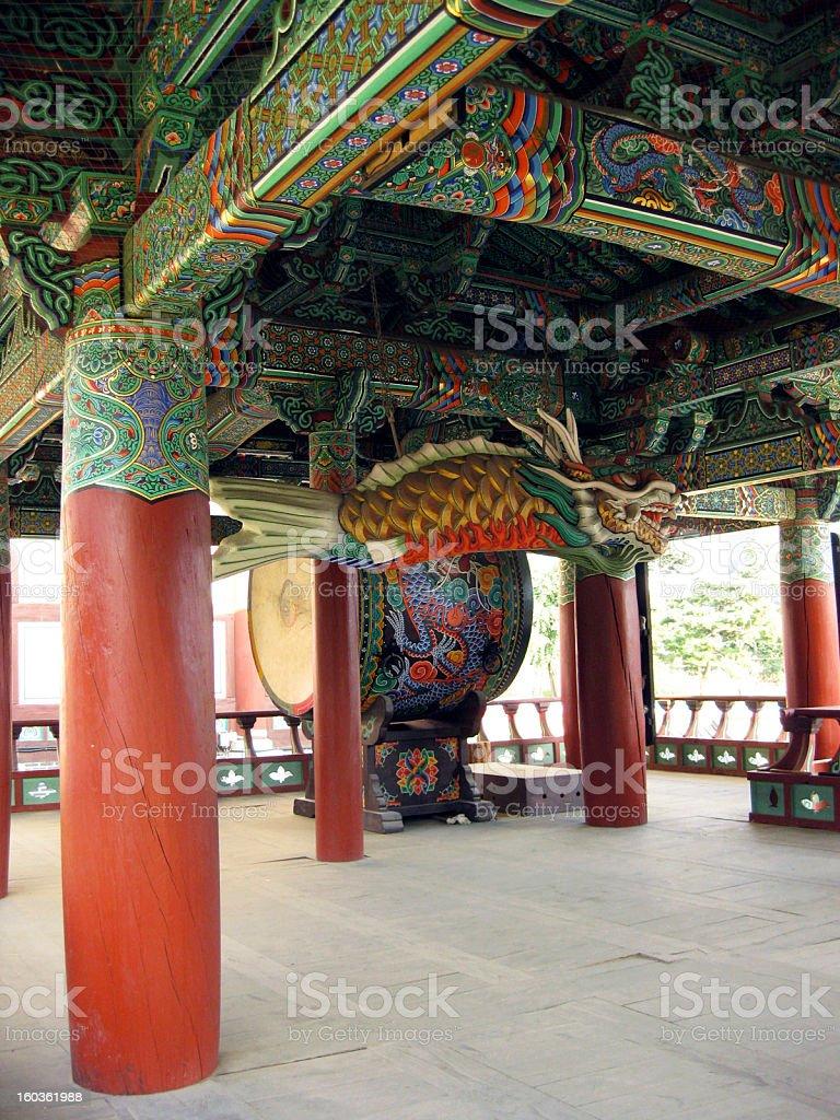 Drum Pavilion at Bongeunsa Temple, Seoul stock photo