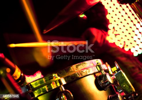 istock drum player on the stage. 453587545
