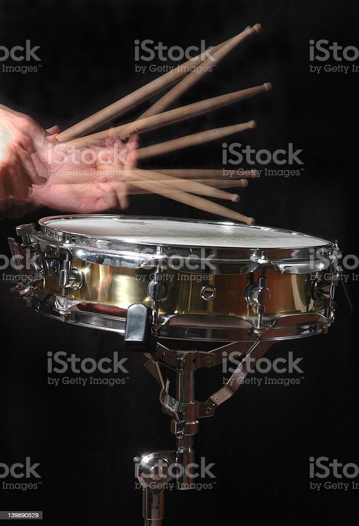 Drum Roll with Hands stock photo